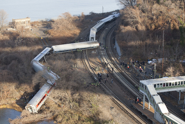 A federal agency ordered Metro-North to take immediate steps to reduce train speed after Sunday's deadly crash, Dec. 6, 2013.