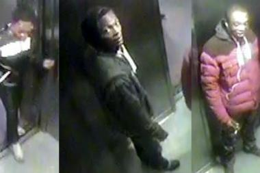 Photos of the three suspects accused of robbing a Washington Heights apartment were captured on security camera.