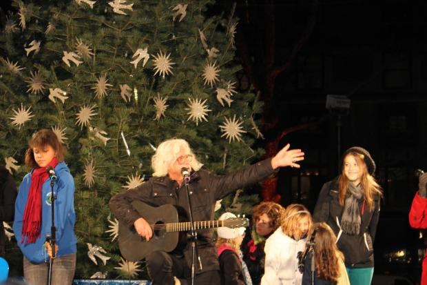 Live music, a tree lighting and dozens of food vendors were on hand Monday night to kick off the season.
