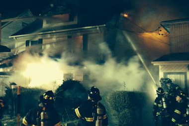Flames tore through 104-19 198th St., the second of two major fires in Hollis Tuesday night.