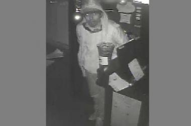 Police are looking for a suspect who stole from a Queens restaurant after-hours, swiping cash from the register.