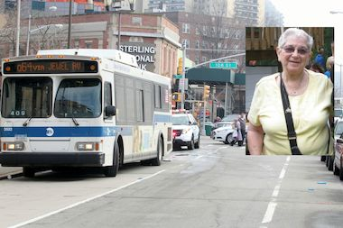Gertrude Schnabel was hit by an MTA bus in Forest Hills last week.