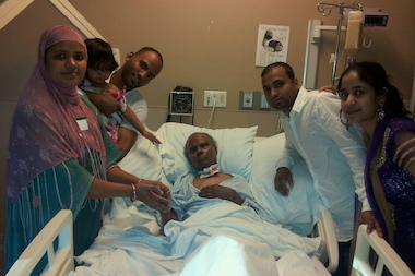 Mohammed Akkas Ali's family surrounded his hospital bed as he was recovering from driver Shaun Martin slamming into him in the East Village. Ali died Jan. 1, 2014 of complications from the injuries he sustained.