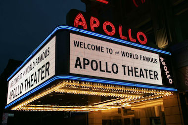 Apollo Theater marquee.