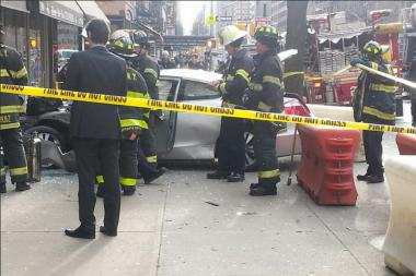 A car struck a realtor's office on the Upper Eastside Monday Jan. 20, 2014. No one was hurt.