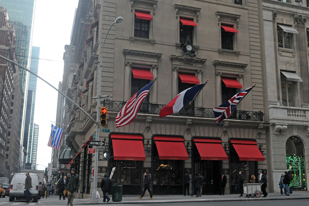 Masked thieves stole 16 watches from Cartier's Midtown shop on Jan. 30, 2014, police said.