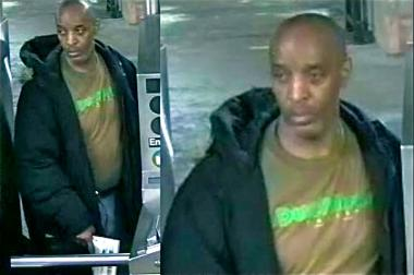 Police are looking for a man who stole a woman's wallet at the City Hall/Brooklyn Bridge stop on Jan. 15.