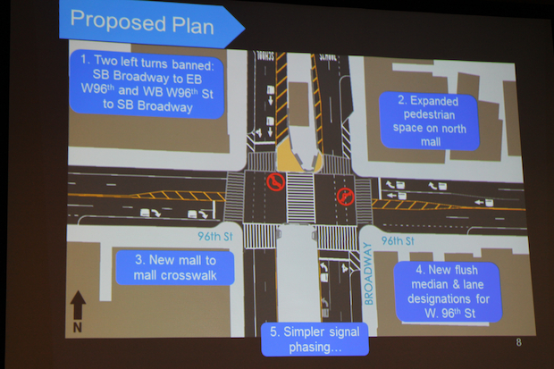 The majority of residents who heard the new plan said they approved of the traffic calming measures.
