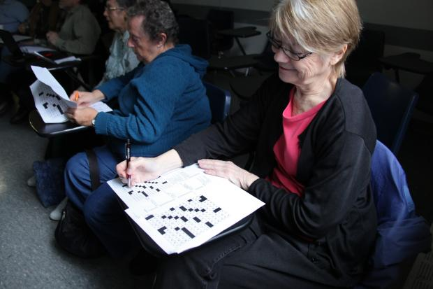 The group of seniors are part of an Upper West Side class that works on crossword puzzle construction.