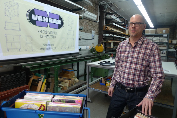 Designer David Stanavich started Wax Rax to help vinyl record collectors reconnect with their music.