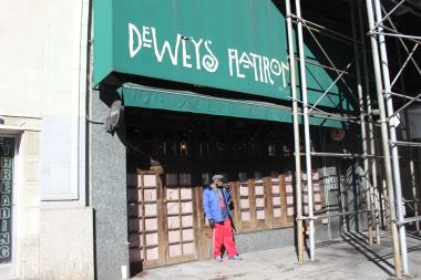 Dewey's owner Edward Dobres was forced to close after the landlord refused to renew his lease, he said.