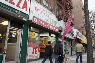 A 70-year-old jeweler was hit by two pistol-wielding thieves on Jan. 10, 2014, at Poxy Jewelry on Flatbush Avenue.