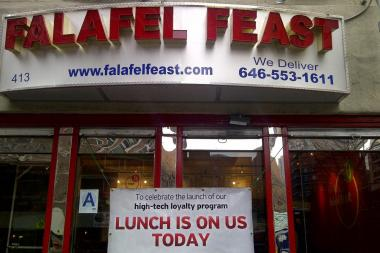 Falafel Feast was shut down by the Health Department for roaches, filth flies and misuse of pesticides.
