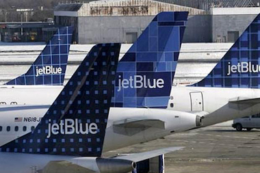 JetBlue is cancelling flights at New York City airports Monday night into Tuesday evening because of impending frigid weather.