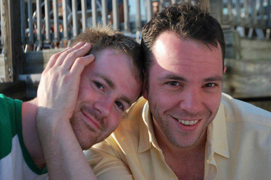 Daniel McClung, left, with his husband Michael Cohen.