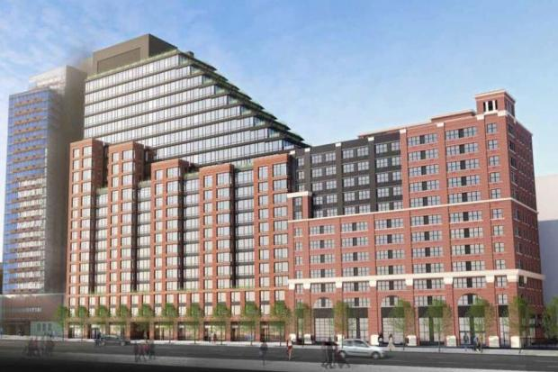 The new buildings will bring 210 affordable apartments to the area, along with 324 market-rate units.