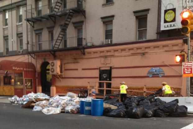 Residents and businesses near the Second Avenue subway construction site say the work has wreaked havoc on garbage pickup.