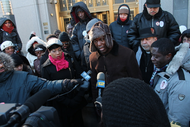 The family of Ramarley Graham, an unarmed Bronx teen shot dead in his own home by police almost two years ago appeared in federal court Tuesday for the start of their civil wrongful death lawsuit against the city.