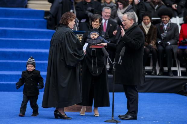 Bill de Blasio became New York City's 109th mayor on Jan. 1, 2013.