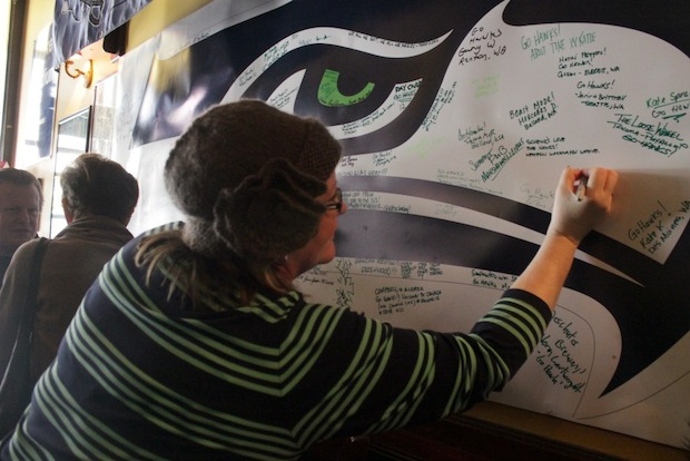 Seahawks' Fans Find a Home in the Big Apple
