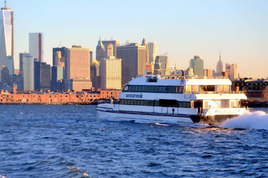 The ferry was brought to the peninsula in November 2012 after the A train was damaged by Hurricane Sandy.