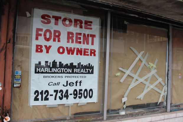 Shop owners along Lefferts Boulevard say high rents drive businesses out.
