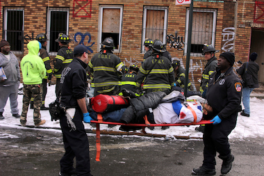 A three-story building under construction in Brownsville collapsed Feb. 26, 2014, the FDNY said.