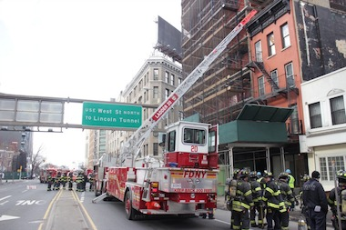A fire that possibly broke out in a manhole spread to 499 Canal St. on Monday, Feb. 24, 2014, officials said.