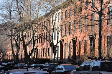 Tree-lined Baltic Street in Cobble Hill, Brooklyn.