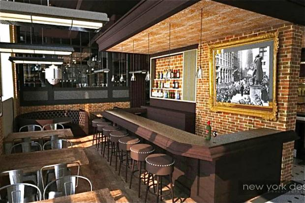 The city's first Denny's will serve a full bar of alcohol when it opens in May.