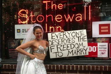Hundreds of people headed to The Stonewall Inn on June 26, 2013, the day the Supreme Court overturned the Defense of Marriage Act.