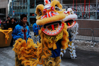 A photo from last week's Lunar New Year parade in Flushing. The parade in Elmhurst kicks off on Sunday.