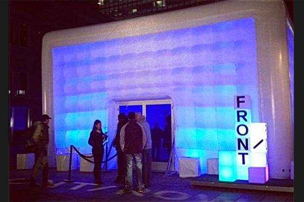 "A slate of free shows are on tap for the South Street Seaport, all inside a heated ""cube."""