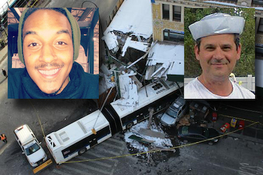 Dominic Whilby was charged with vehicular homicide for stealing a truck early Wednesday morning and then slamming into a city bus, killing its driver, prosecutors say.