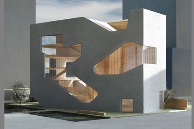 The planned Hunters Point Library, designed by architect Steven Holl.