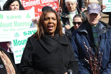 Letitia James made affordable housing a central theme of her campaign for public advocate. But records show that she supported a developer's proposal to build a boutique hotel in Downtown Brooklyn over other plans for mixed-used developments with an affordable housing component.