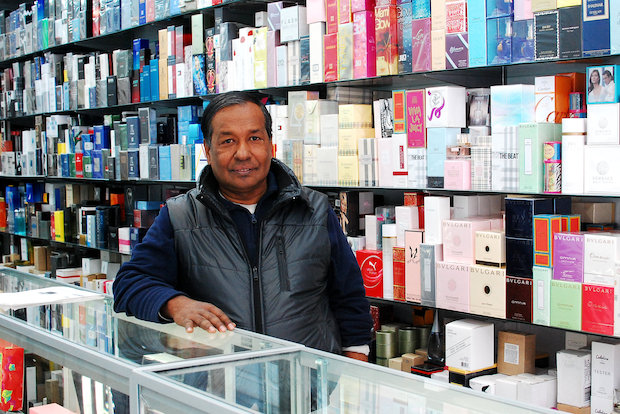 The owner traveled around the world before settling in as a perfume salesman in the 1990s.