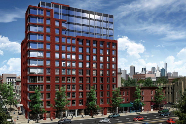 The new building at Fourth Avenue and 11th Street will be at least 12 stories tall.