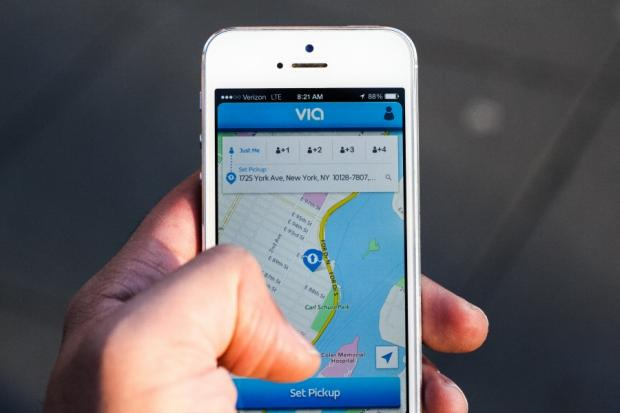 VIA Luxury Ridesharing coordinates commuters with the help of an app.