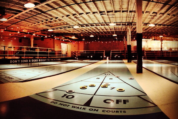 After a series of soft opening events, Royal Palms Shuffleboard Club will open to the public on Feb. 19.