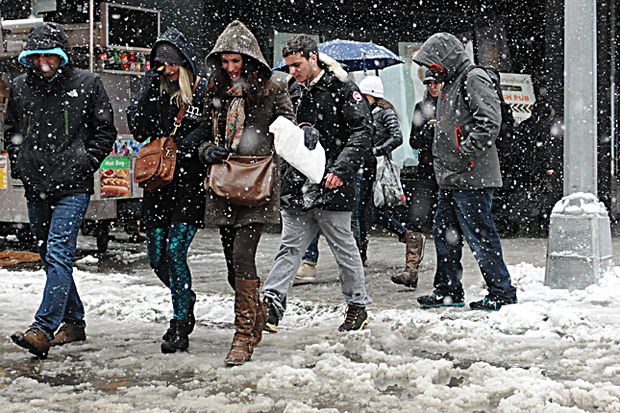 Snow is expected to start accumulating Friday night.