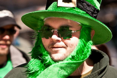 One of NYC's Son's of Erin enjoying the 2011 St. Patrick's Day parade.