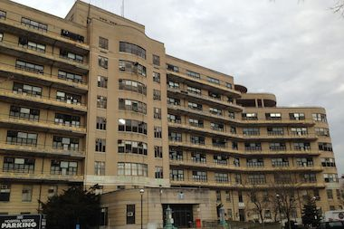 The historic 'T' Building on the Queens Hospital Center campus is threatened with demolition.