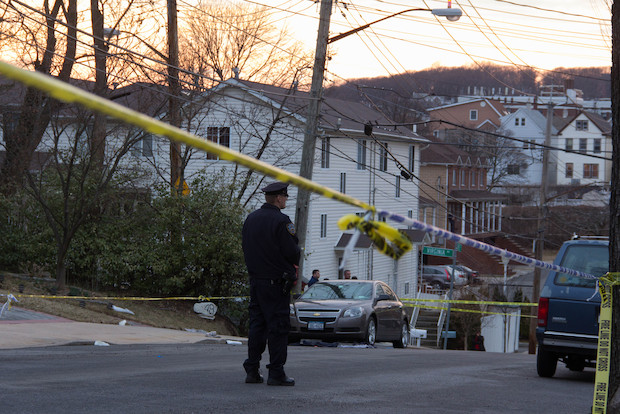 Heriberto Pagan, from Brooklyn, shot his grandson in the head in front of 455 Virginia Ave., around 6:16 p.m., at the home the man shared with Claritle Christina Huerta, 28, police said.
