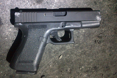 Police recovered this gun on March 1, 2014 and said Jayson Ramos, 22, pointed it at them.