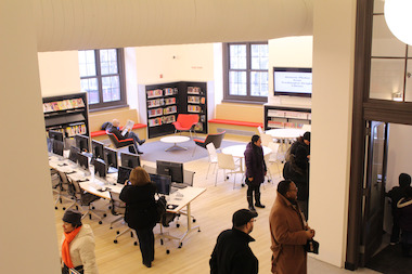 The Washington Heights Library reopened Monday after being closed for four years of renovations. The repairs covered three floors and 12,000 square feet of the library.