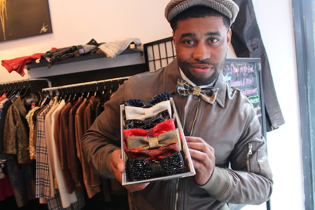 Harlem resident Darrick Leak, 28, has plans to turn his line of colorful, custom bow ties into a full menswear fashion line.