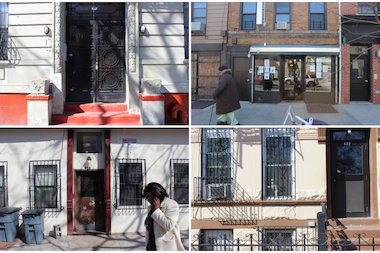 Four Bed-Stuy buildings in danger of entering the city's lien sale. Every year groups in Bed-Stuy work to help homeowners avoid the sale of their debt to private companies.