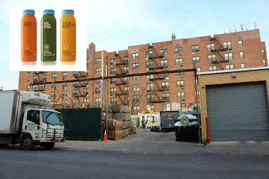 The BluePrint Juice factory in Long Island City, which is next to an apartment building, has garnered noise complaints from neighbors.
