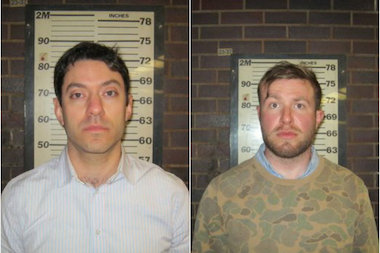 Yon Pomrenze, 34, and Connor Fieldman Boals, 26, were both arrested for trying to break into the World Trade Center, the Port Authority said.